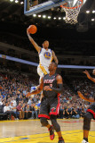 Miami Heat v Golden State Warriors: Monta Ellis and Dwayne Wade Photographic Print by Rocky Widner
