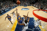 Golden State Warriors v Memphis Grizzlies: Monta Ellis, Xavier Henry and Rudy Gay Photographic Print by Joe Murphy