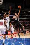 San Antonio Spurs v Los Angeles Clippers: Tim Duncan Photographic Print by Andrew Bernstein