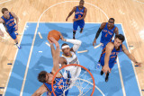 New York Knicks v Denver Nuggets: Carmelo Anthony and Danilo Gallinari Photographic Print by Garrett Ellwood