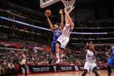 New York Knicks v Los Angeles Clippers: Landry Fields and Blake Griffin Photographic Print by Noah Graham