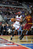 Cleveland Cavaliers v Detroit Pistons: Richard Hamilton and J.J. Hickson Photographic Print by Allen Einstein