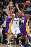 Los Angeles Lakers v Minnesota Timberwolves: Wesley Johnson, Pau Gasol and Kobe Bryant Photographic Print by David Sherman