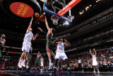 Milwaukee Bucks v Philadelphia 76ers: Spencer Hawes and Andrew Bogut Photographic Print by Jesse D. Garrabrant