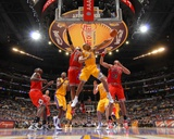 Chicago Bulls v Los Angeles Lakers: Derek Fisher Photographic Print by Andrew Bernstein