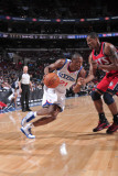 New Jersey Nets v Philadelphia 76ers: Thaddeus Young and Kris Humphries Photographic Print by David Dow
