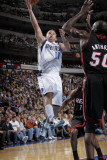 Miami Heat v Dallas Mavericks: Jose Juan Barea and Joel Anthony Photographic Print by Glenn James