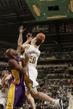 Los Angeles Lakers v Indiana Pacers: Tyler Hansbrough and Lamar Odom Photographic Print by Ron Hoskins