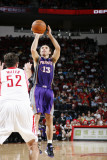Phoenix Suns v Houston Rockets: Steve Nash and Brad Miller Photographic Print by Bill Baptist