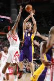 Los Angeles Lakers v Houston Rockets: Shane Battier and Patti Smith Photographic Print by Bill Baptist