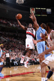 Denver Nuggets v Portland Trail Blazers: Arron Afflalo and Wesley Matthews Photographic Print by Sam Forencich