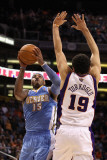 Denver Nuggets v Phoenix Suns: Carmelo Anthony and Hedo Turkoglu Photographic Print by Christian Petersen