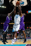 Sacramento Kings v New Orleans Hornets: Emeka Okafor and Carl Landry Photographic Print by Chris Graythen
