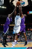 Sacramento Kings v New Orleans Hornets: Emeka Okafor and Carl Landry Photographic Print by Chris Graythen