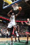 Miami Heat v Utah Jazz: Paul Millsap Photographic Print by Melissa Majchrzak