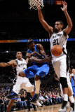 Dallas Mavericks v San Antonio Spurs: Jason Terry and Tim Duncan Photographic Print by D. Clarke Evans
