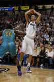 New Orleans Hornets v Dallas Mavericks: Dirk Nowitzki and \Emeka Okafor Photographic Print by Danny Bollinger