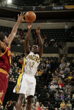 Cleveland Cavaliers v Indiana Pacers: Darren Collison Photographic Print by Ron Hoskins