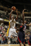 Atlanta Hawks v Indiana Pacers: T. J. Ford and Jeff Teague Photographic Print by Ron Hoskins