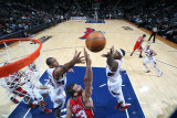 New Jersey Nets v Atlanta Hawks: Josh Smith and Al Horford Photographic Print by Scott Cunningham