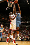 Washington Wizards v Miami Heat: Alonzo Gee and Joel Anthony Photographic Print by Issac Baldizon