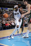 Milwaukee Bucks v Dallas Mavericks: Jason Terry and Andrew Bogut Photographic Print by Glenn James