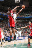 New Jersey Nets v Utah Jazz: C.J. Miles and Travis Outlaw Photographic Print by Melissa Majchrzak
