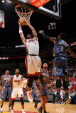 Charlotte Bobcats v Miami Heat: Chris Bosh Photographic Print by Andrew Bernstein