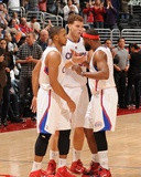 San Antonio Spurs v Los Angeles Clippers: Eric Gordon, Blake Griffin and Baron Davis Photographic Print by Noah Graham