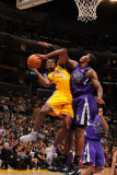 Sacramento Kings v Los Angeles Lakers: Devin Ebanks and Jason Thompson Photographic Print by Noah Graham