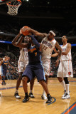 Denver Nuggets v Charlotte Bobcats: Tyrus Thomas and Al Harrington Photographic Print by Brock Williams Smith