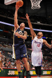 Utah Jazz v Los Angeles Clippers: Deron Williams and Eric Gordon Photographic Print by Noah Graham