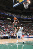 Milwaukee Bucks v Utah Jazz: Chris Douglas-Roberts and Deron Williams Photographic Print by Melissa Majchrzak