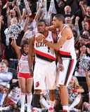Denver Nuggets v Portland Trail Blazers: Nicolas Batum and Wesley Matthews Photographic Print by Sam Forencich