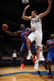 New York Knicks v Washington Wizards: Raymond Felton and JaVale McGee Photographic Print by Ned Dishman