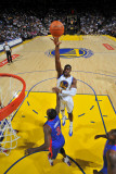 Detroit Pistons v Golden State Warriors: Jeff Adrien Photographic Print by Rocky Widner