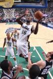 San Antonio Spurs v Utah Jazz: Francisco Elson and Manu Ginobili Photographic Print by Melissa Majchrzak