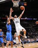 Dallas Mavericks v San Antonio Spurs: Manu Ginobili and Tyson Chandler Photographic Print by D. Clarke Evans