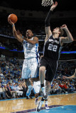 San Antonio Spurs v New Orleans Hornets: Marcus Thornton and Tiago Splitter Photographic Print by Layne Murdoch