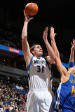 Golden State Warriors v Minnesota Timberwolves: Darko Milicic and Andris Biedrins Photographic Print by David Sherman