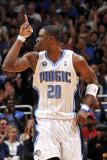 Miami Heat v Orlando Magic: Mickael Pietrus Fotografisk tryk af Fernando Medina