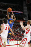 Golden State Warriors v Houston Rockets: Monta Ellis and Luis Scola Photographic Print by Bill Baptist