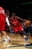 Philadelphia 76ers v Washington Wizards: Jrue Holiday and John Wall Photographic Print by Ned Dishman