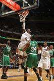 Boston Celtics v Charlotte Bobcats: Paul Pierce and Stephen Jackson Photographic Print by Kent Smith