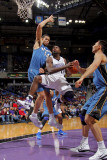 Washington Wizards v Sacramento Kings: Tyreke Evans and JaVale McGee Photographic Print by Rocky Widner