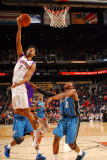 Washington Wizards v Phoenix Suns: Josh Childress and John Wall Photographic Print by Barry Gossage