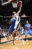 Orlando Magic v San Antonio Spurs: Tony Parker and Rashard Lewis Photographic Print by D. Clarke Evans