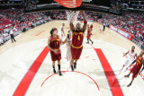 Cleveland Cavaliers v Houston Rockets: Antawn Jamison anderson Varejao and Luis Scola Photographic Print by Bill Baptist