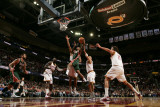 Milwaukee Bucks v Cleveland Cavaliers: Brandon Jennings, J.J. Hickson and Anthony Parker Fotografisk tryk af David Liam Kyle