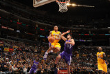 Sacramento Kings v Los Angeles Lakers: Shannon Brown and Omri Casspi Photographic Print by Noah Graham